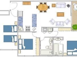 Nautilus Holiday Apartment 3BR floorplan