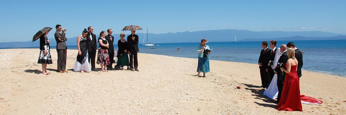 Port Douglas wedding ceremony on the beach